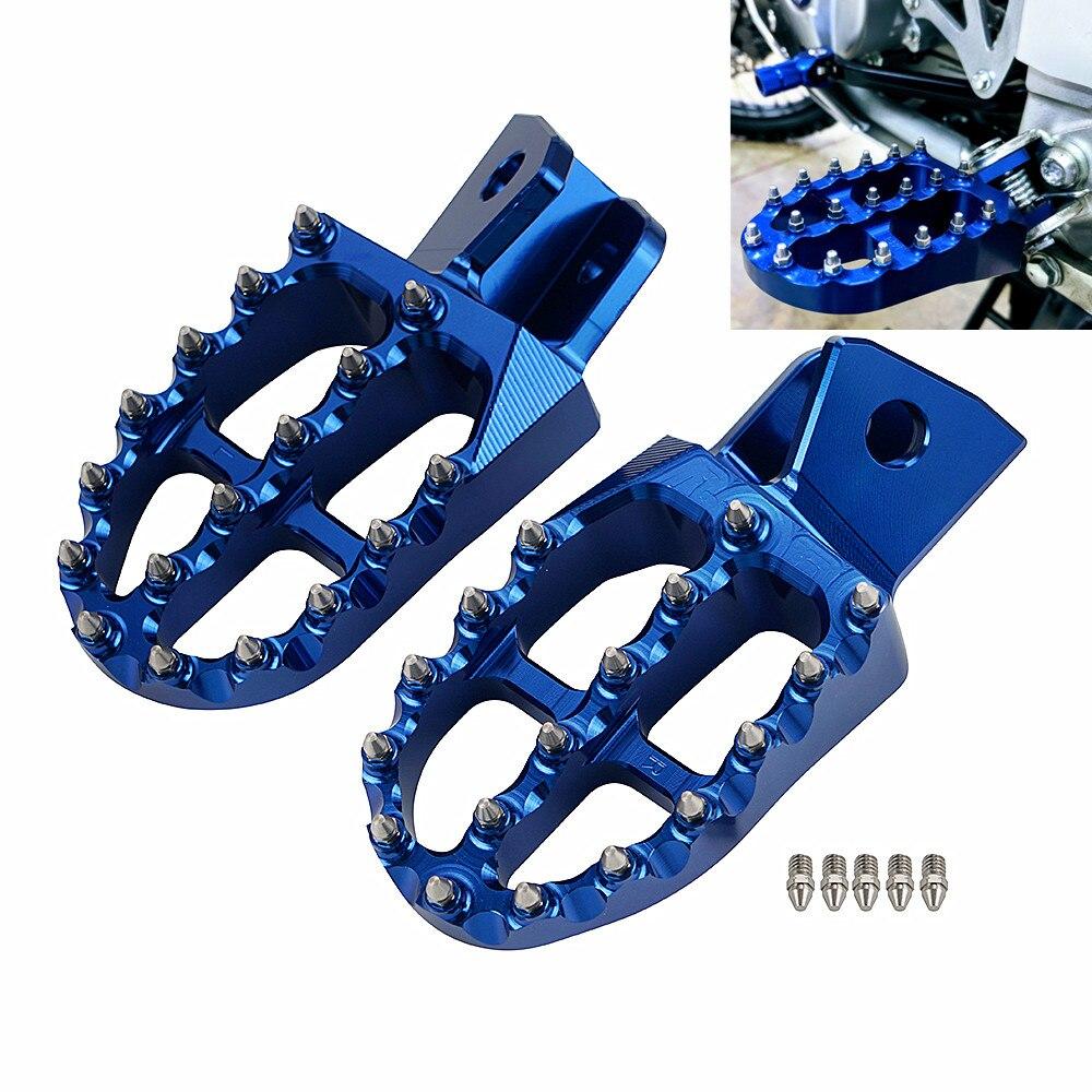 Nicecnc pé pegs apoio para os pés da motocicleta pedal para yamaha wr250r wr250x 2007 2008 2009 2010- 2017 2018 2019 2020