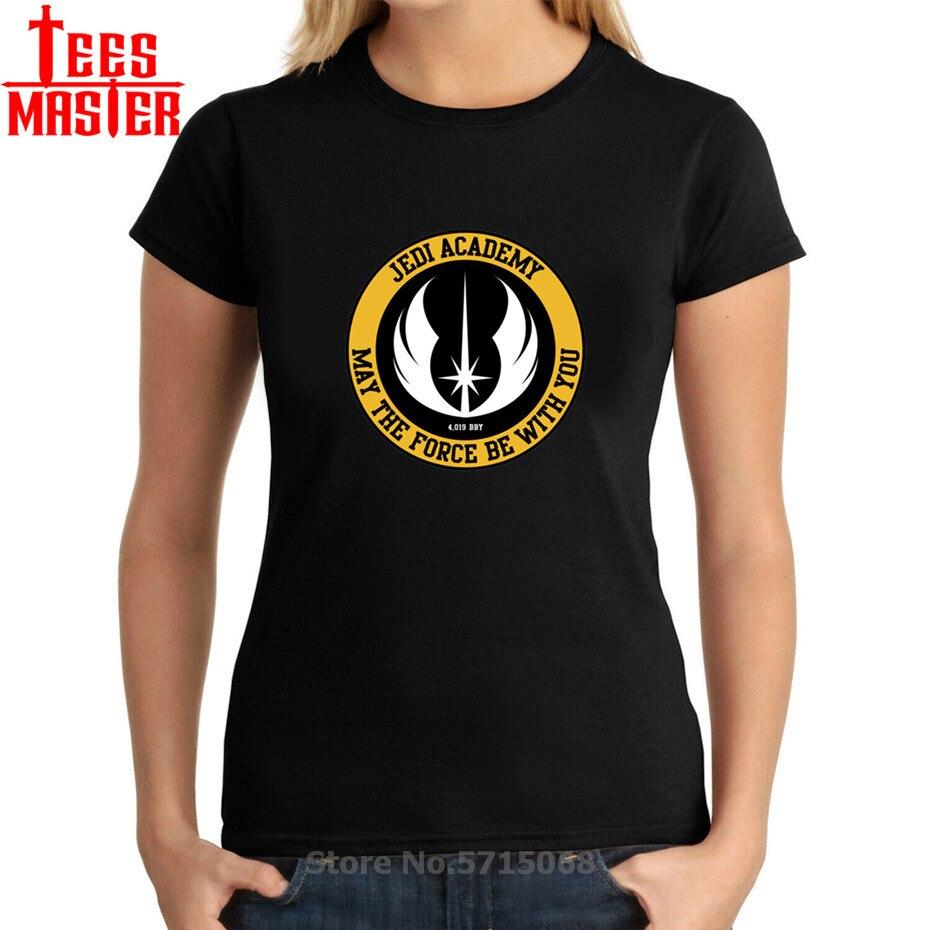 Retro logotipo t último jedi t camisa 3d estrela jedi academia guerras símbolo rebelde feminino camiseta de algodão streetwear darth vader topos senhora
