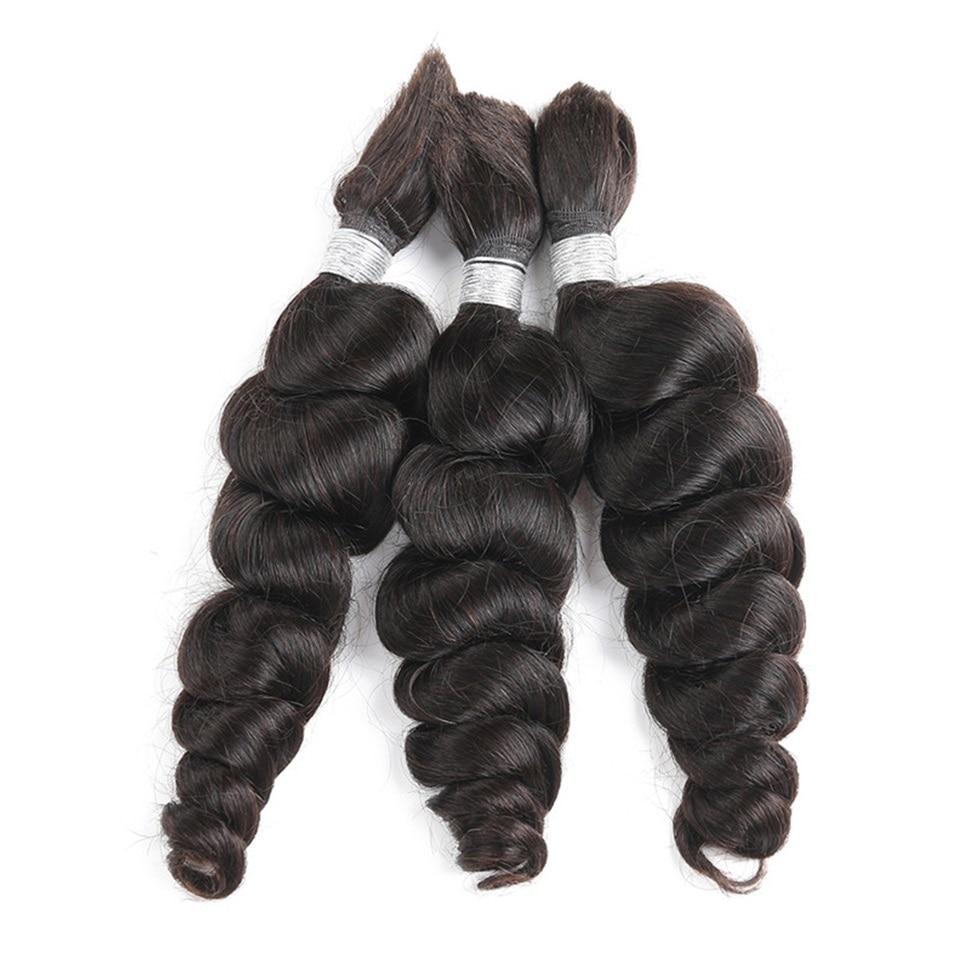 Свободные волнистые человеческие волосы оптом для плетения, бразильские волосы Remy, плетение без уточка, 3 пряди, человеческие волосы для нар...