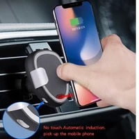 wxc c5 car wireless 15w fast charging infrared sensor mobile phone charging qi wireless charger for samsung iphone huawei mi