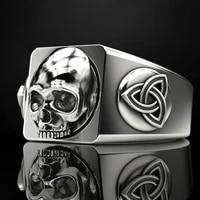 secret boyfashion viking rune skull ring men odin rune hip hop jewelry ring for men anniversary gift party accessories size 7 13