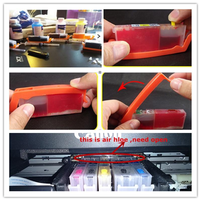 Refill ink kit 470 471 PGI-470 CLI-471 refillable ink cartridge for canon PIXMA MG5740 MG6840 TS5040 TS6040 TS 5040 TS6040