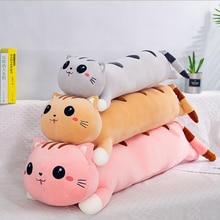 Plush doll toys Cushion cuddle pillow Animal cute cat stuffed pillow kids bed Cushion Bumpers pad cotton THM014