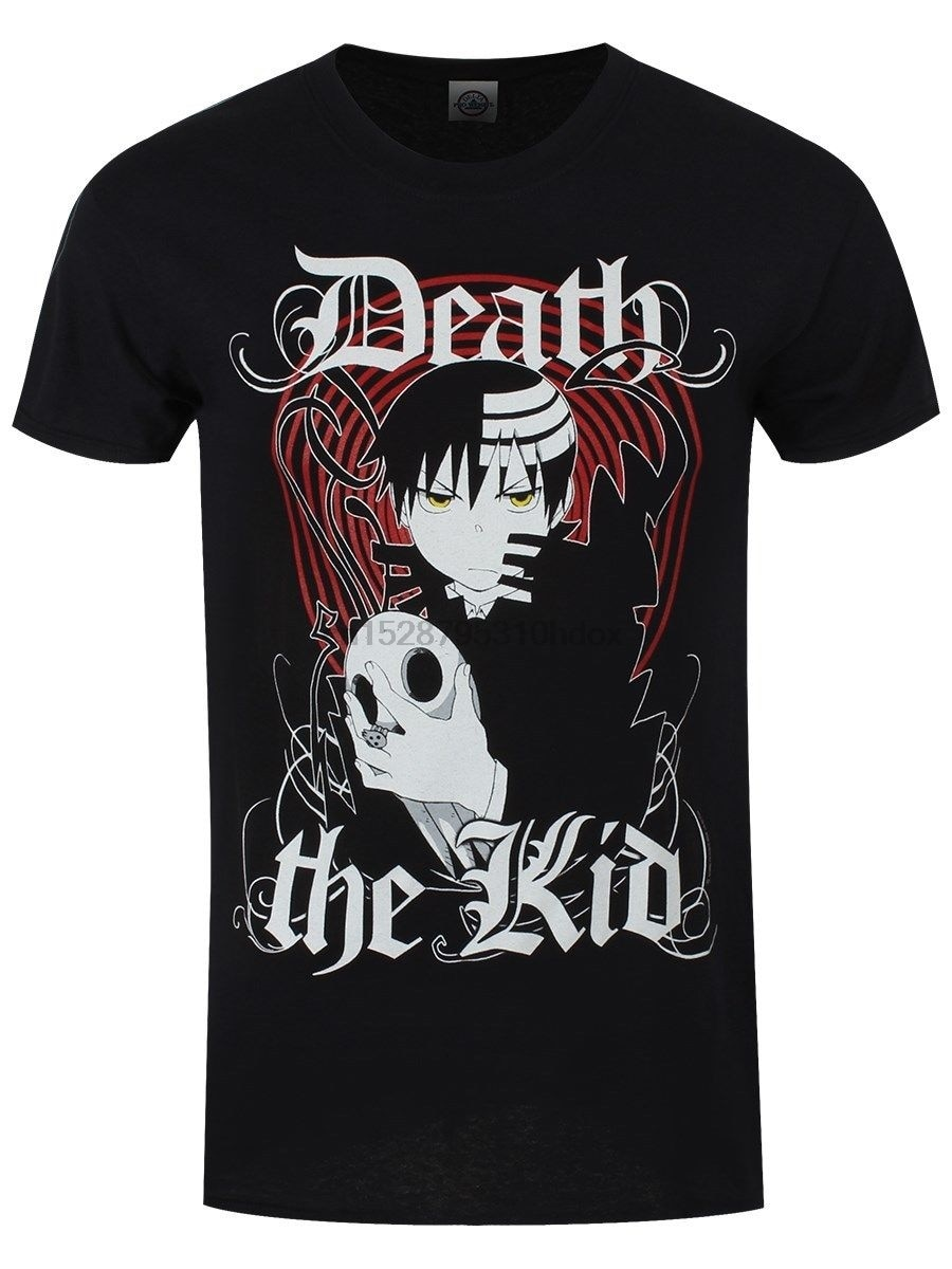 Soul Eater Death The Kid, Мужская черная футболка, модная футболка, бесплатная доставка, топ, футболка