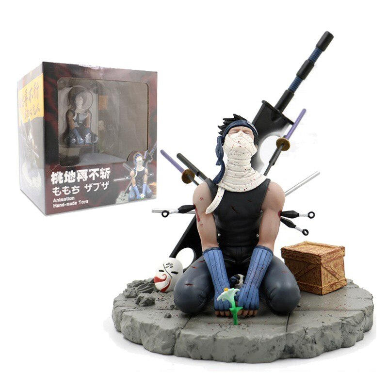 Anime Naruto 19cm Momochi Zabuza Gk Action Figure Toys Haku Fox Mask Ornament Death Of Zabuza Kirigakure Display Model Gift Toys