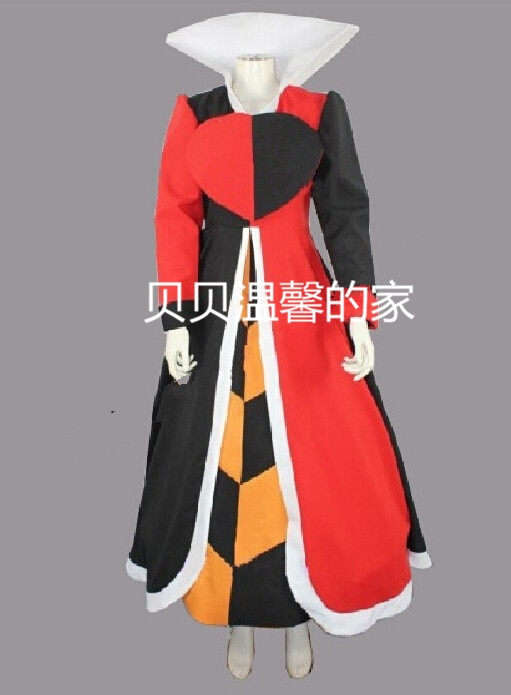 2016 Game Anime Alice Madness Returns Queen of Hearts Customized Uniforms Cosplay Costume Custom-made Any Size