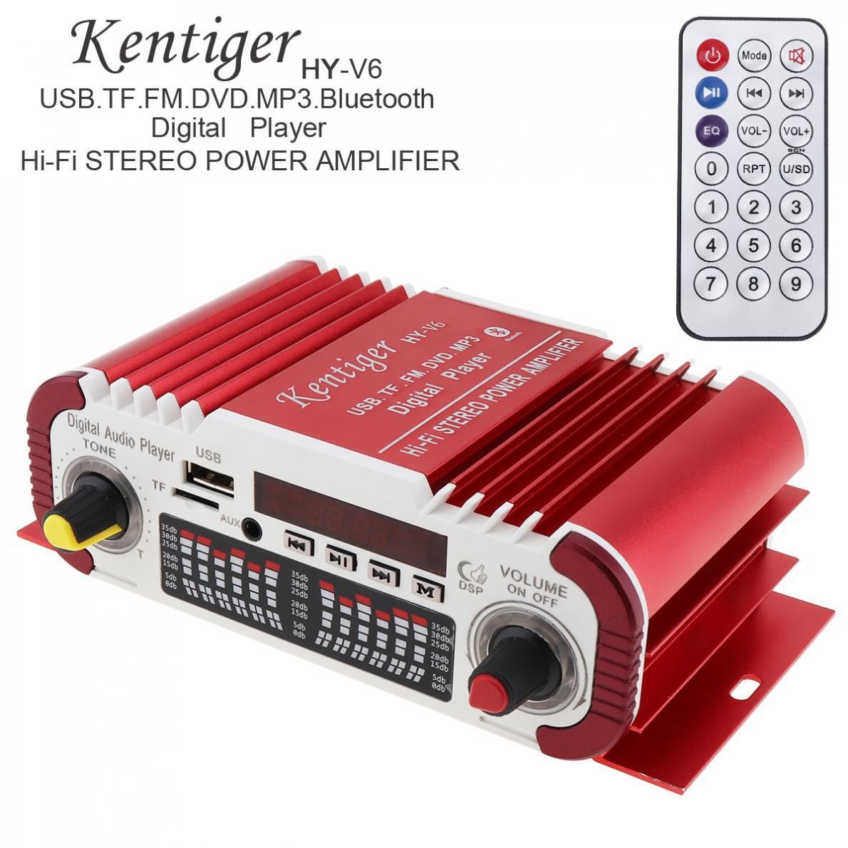 AMPLIFICADOR DE POTENCIA Digital para coche, reproductor de Audio estéreo con Radio...