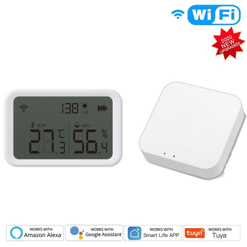 ZigBee Tuya Mini Temperature Humidity Sensor Built-in Battery Smart Life APP Smart Home Building Automation LCD Screen Display