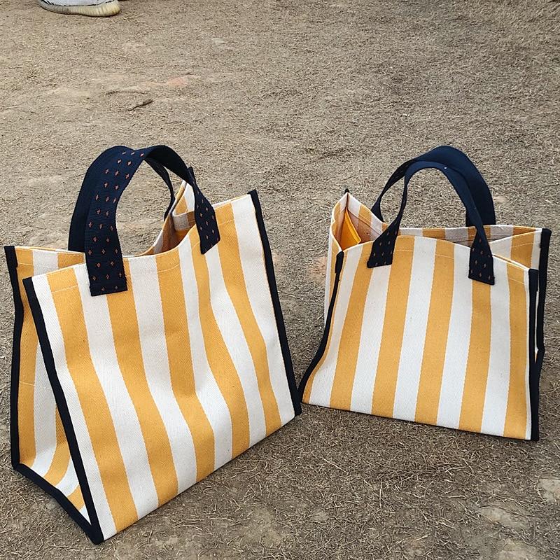 Bag for women 2020 beach bolsa feminina stripe waterproof bolsa playa  grande borse da donna canvas hand bag sac femme shopper