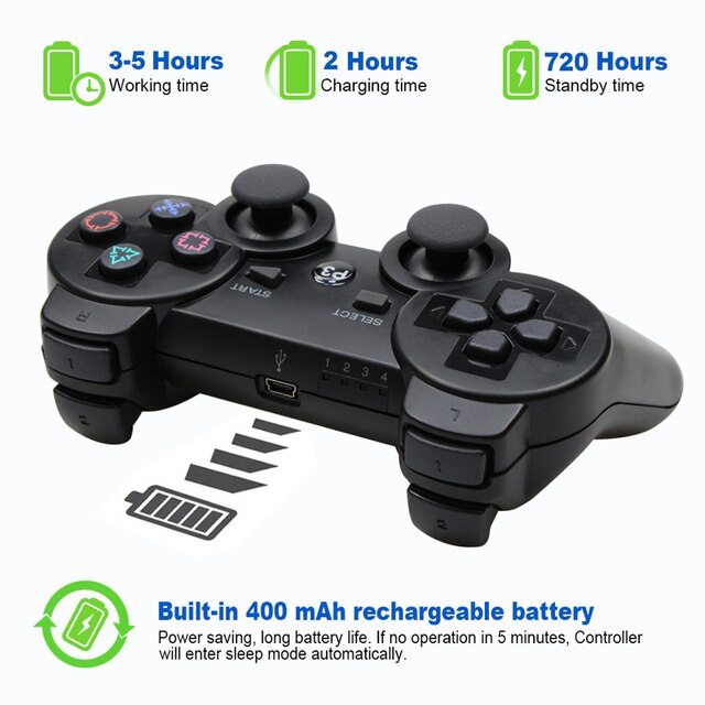 For SONY PS3 Controller Bluetooth Gamepad for PlayStation 3 Joystick Wireless Console for Sony Playstation 3 SIXAXIS Controle PC 6