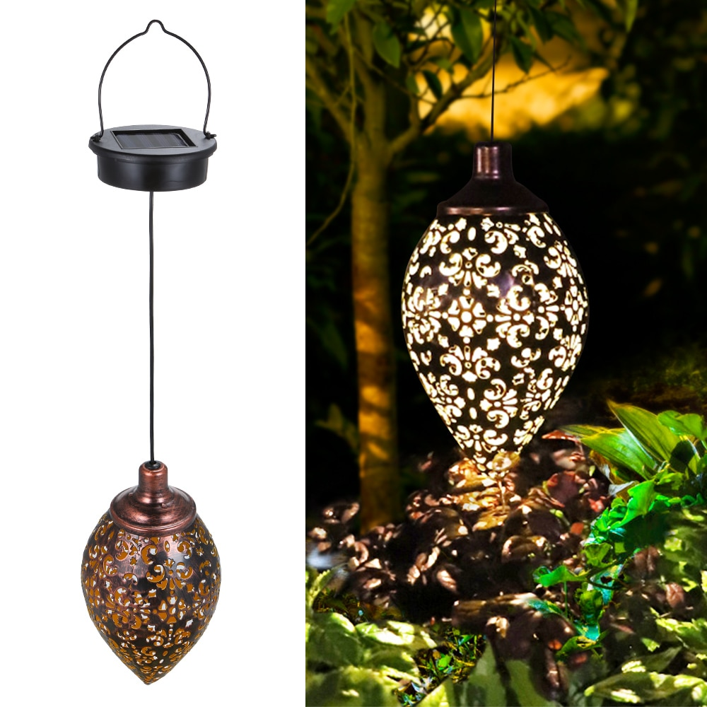 Solar Light LED Lantern Garland Waterproof garden light Hanging Outdoor Fairy Lights for Solar Lamp Garland Garden Decoration