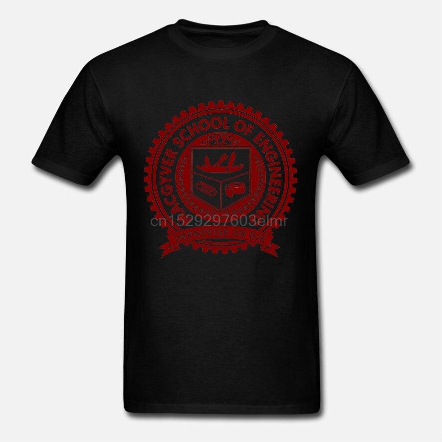 Macgyver Schule Gadgets Engineering Lustige 80 ActionTV Zeigen Weiß T-Shirt Kurzen Ärmeln Baumwolle T-shirt Top T