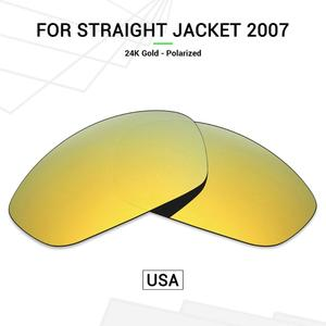 Mryok POLARIZED Replacement Lenses (from USA)  for Oakley Straight Jacket 2007 Sunglasses 24K Gold