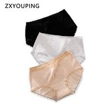 Plus Size Women Underwear XXL-XXXXL Big Size Briefs Cotton Panties Seamless Lace Wrapped Edges Lingerie Female Sexy Underpants