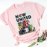 fashion now united t shirt girls kpop tshirt women 2021 pink top female summer graphic tees 90s 00s fans clothes casual t shirt