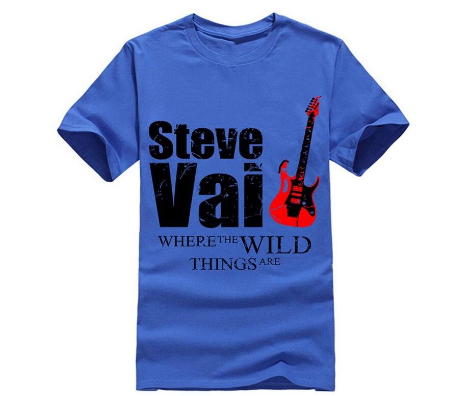 Camiseta de nuevo diseño para hombre Steve Vai Wild Things Guitar Legend