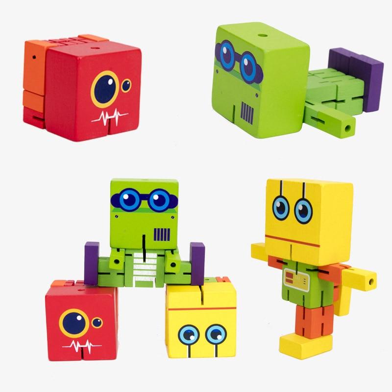 Деревянные игрушки-роботы антистресс волшебный куб антистресс тревога и снятие стресса для детей антистрес игрушки