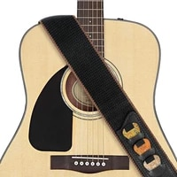 adjustable pure cotton guitar strap brown for acoustic electric bass guitar electric acoustic guitars musical accessories