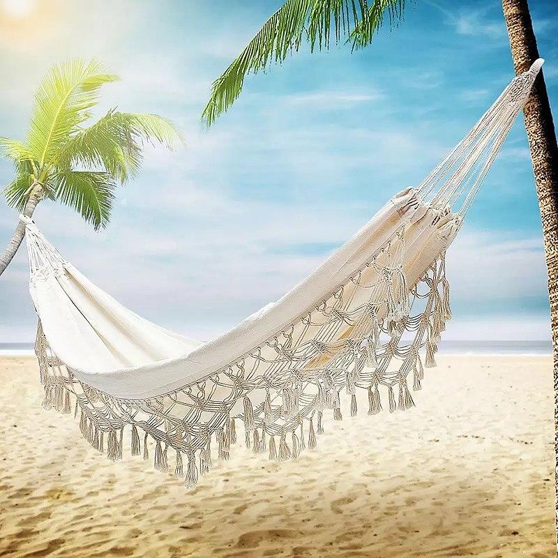 Гамак-качели, большая белая бахрома макраме, на 2 человек, двойной роскошный гамак сетка-качели, подвесное кресло для помещения, качели