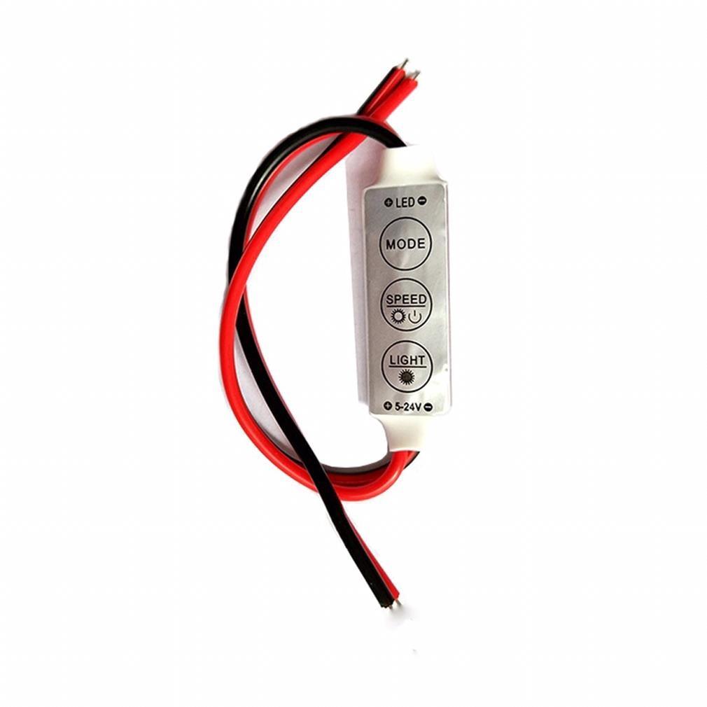 Dimmer Mini 5V 12A LED Dimmer Remote Controller For Single Color 5050/3528 Led Strips Brightness Dimmer