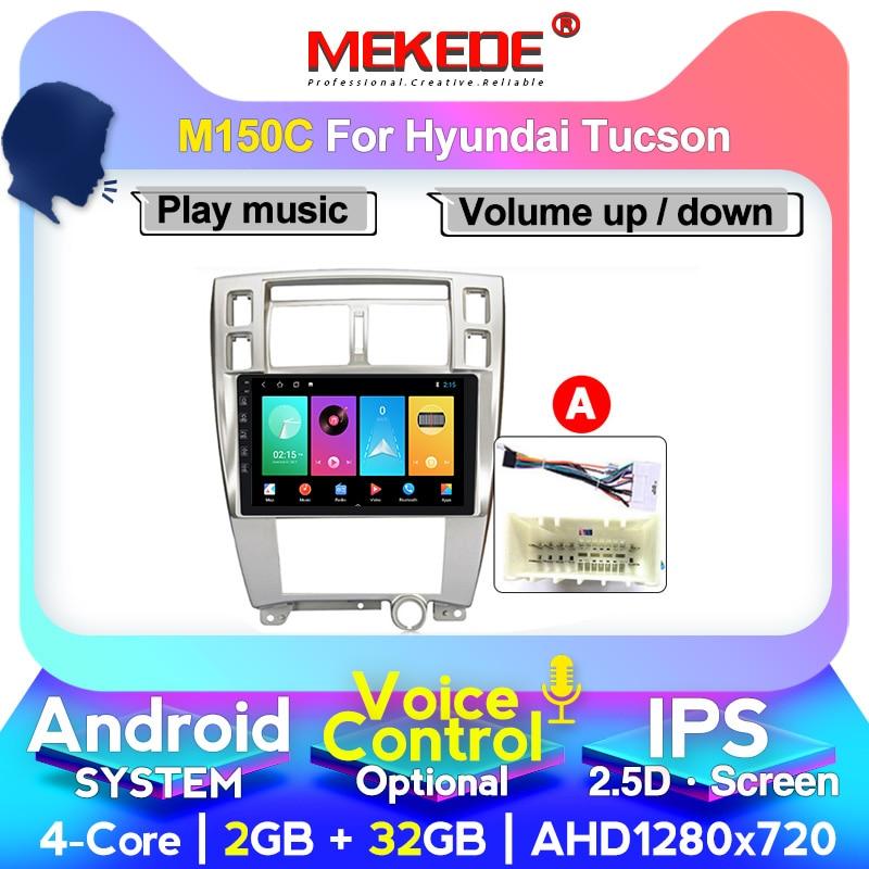 MEKEDE M200 Car Radio Multimedia Player autoradio Navigation GPS  For Hyundai Tucson 2006-2014 2.5D IPS Android