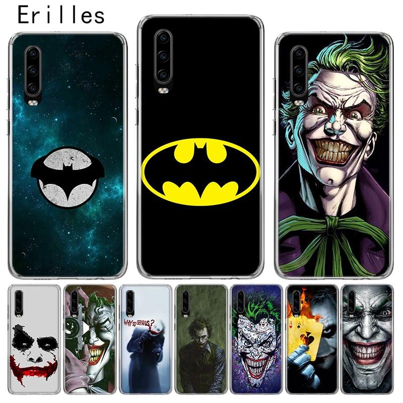 Erilles de Hawei Ericsson P10 P20 P30 P40 lite caso Huawei Mate 10 Pro 20 lite cubierta P inteligente 2019 Shell Batman Joker oscuro Coque