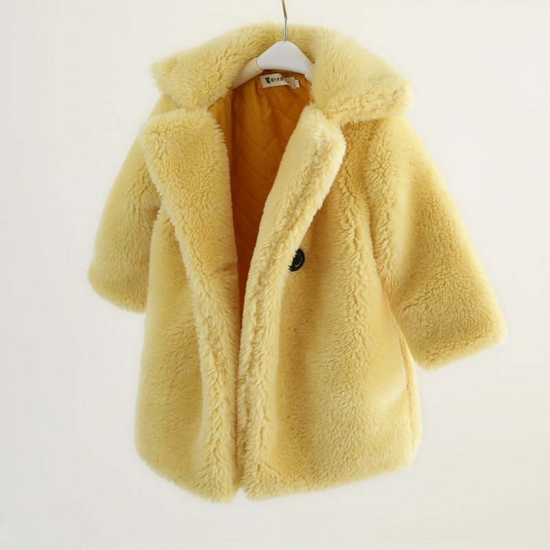 MudiPanda Fashion Baby Girl Winter Jacket Fur Thick Toddler Child Warm Sheep Coat Wool Baby Outwear Quality Girl Clothes 2-14Y enlarge