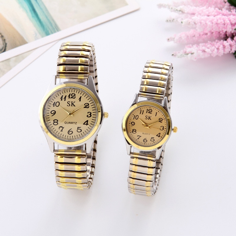 Fashion Watch For Women Luxury Ladies Wrist Watches Quartz Clock Male Watches For Couples Elastic Ba
