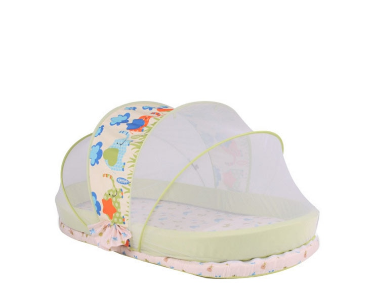 New Baby Crib 0-2 Years Baby Bed set Portable Foldable cot playpens child station on the go cradle Mosquito Netting enlarge