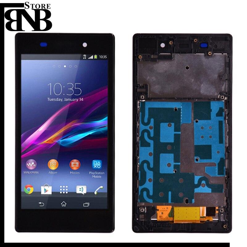 Для Sony Xperia Z1 L39H C6902 C6903 ЖК-дисплей и кодирующий преобразователь сенсорного экрана в сборе с рамкой или без каркаса, качество AAA