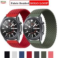Ремешок Плетеный Соло для Samsung Galaxy watch 3/46 мм/42 мм/active 2/Amazfit gts 2, браслет для Huawei GT 2 Pro 20/22 мм