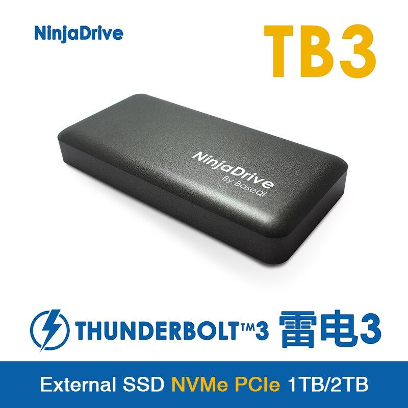 NinjaDrive 1 تيرا بايت/2 تيرا بايت عالية السرعة الحالة الصلبة القرص هو ل أبل ماك بوك اير برو الصاعقة 3 مخصصة الخارجية SSD فلاش القرص