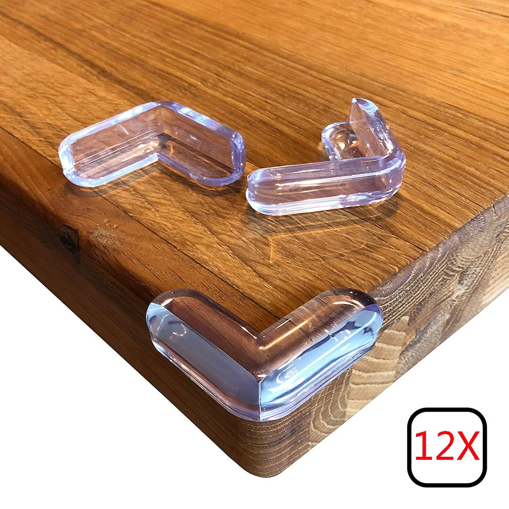Protectores de esquinas 12 Uds protectores de esquinas transparentes mesas de Gel adhesivas de alta resistencia muebles y esquinas afiladas a prueba de bebés J #08