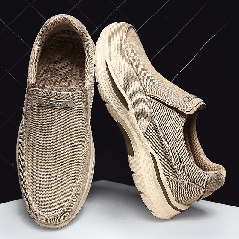 FEBMOFL Men's Casual Shoes Canvas Breathable Loafers Men New Male Comfortable Outdoor...