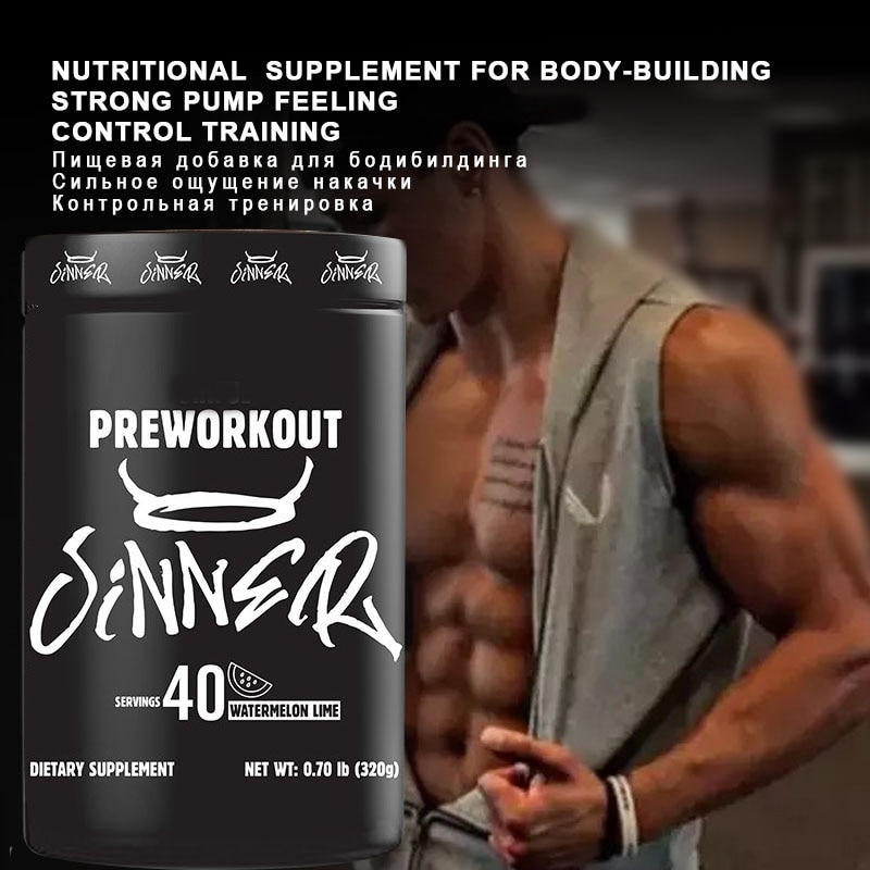 Pre-workout Nutritional supplement for body-building Improve muscle, strength and endurance 320g