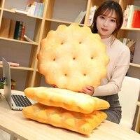 creative cookie shaped cushion 3d print plush cushion simulation cookie stuffed plush seat pad soft cushion kids gift xmas gift