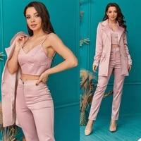 elegnat women 2 pieces blazer suits notched lapel pocket jacket pencil pants office lady casual daily streetwear set