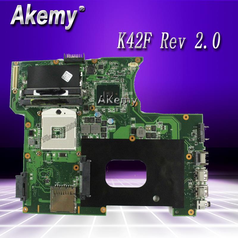 K42F Rev 2.0 GMA HD USB2.0 HM55 PGA989 DDR3 ذاكرة الفيديو اللوحة الرئيسية ل For Asus K42F اللوحة P42F 100% اختبارها بالكامل