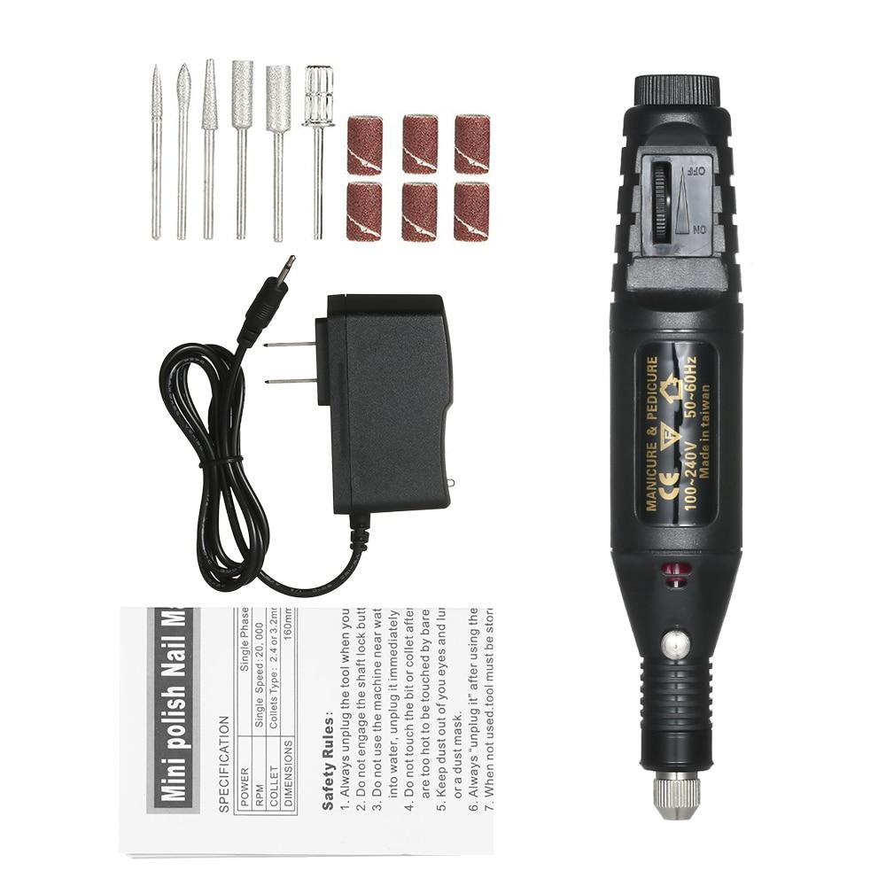 Электрическая дрель для ногтей, шлифовальный станок, дрель, инструмент для удаления, дрель, шлифовальный Вращающийся набор инструментов с а...