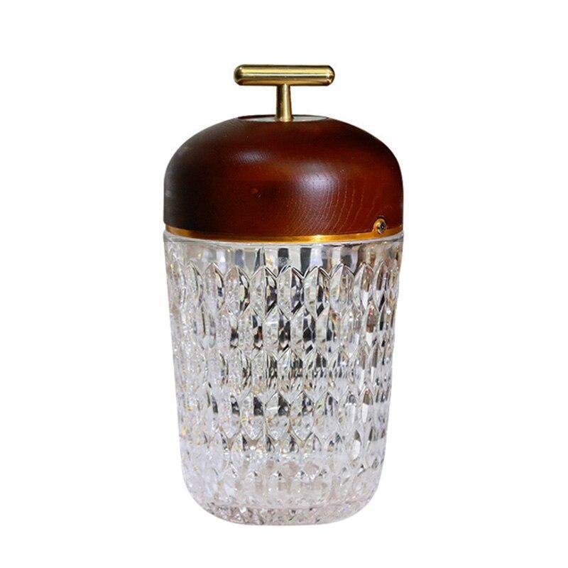 2021 كريستال أباجورة مصنوعة من الزجاج مع اللمس التبديل الإبداعية رومانسية صالون غرفة نوم مقهى بار جو أضواء قرص قابل للشحن