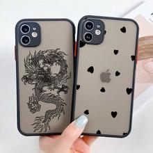 Funda For iPhone 11 Case iPhone 11 12 Pro Max X Xs Max Xr 6s 7 8 Plus  12 Mini SE 2020 Cover Matte H