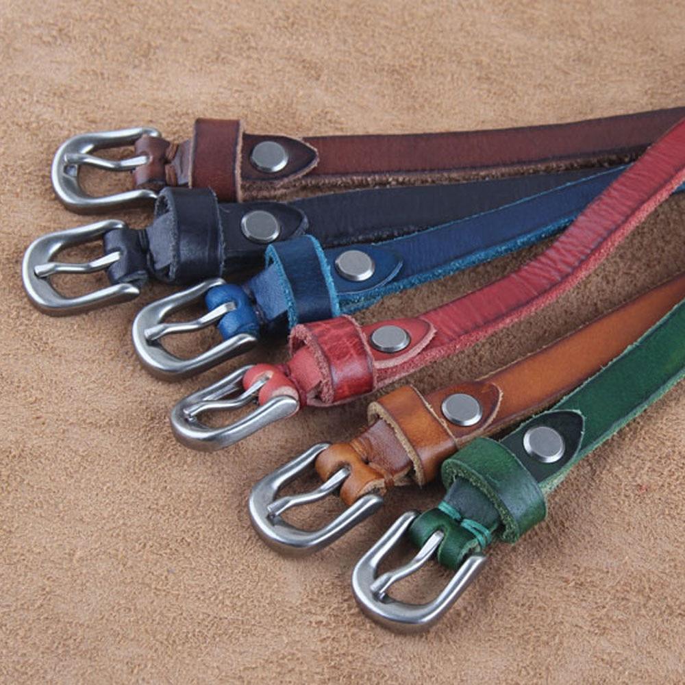 first layer genuine leather  women slim belt shirt jeans decoration 14mm width