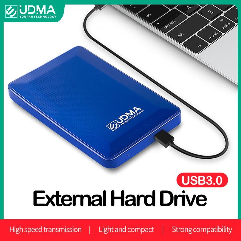 UDMA Mini Portable External Hard Disk Drive 500GB 750GB USB3.0 Storage Capacity 2.5