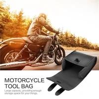 universal motorcycle bike front handlebar tool bag luggage saddle bag synthetic leather universal motorcycle or bike