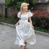 french chic fashion new design spring summer womens slim satin prom dress waist elegant date girls long dresses for women 2021