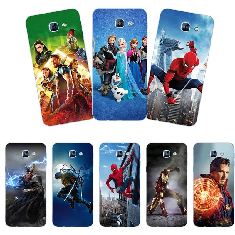 Fundas de teléfono de plástico duro para Samsung Galaxy A8 2016 A810F/SM-A810YZ/SM-A810S funda posterior para móvil Coque estampado estilo de pintura