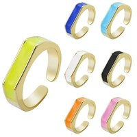 2021 fashion simple design vintage nulticolor gold ring for women men charms dripping oil ring gothic jewelry accessories