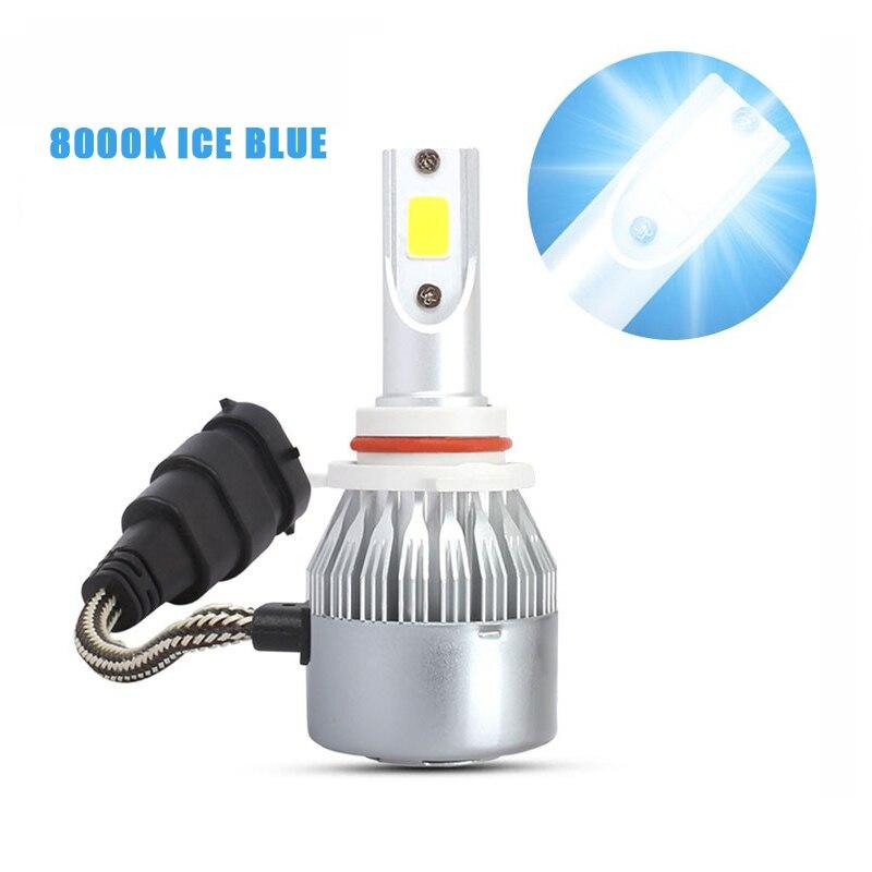 1 шт. синий светодиодный автомобильный светильник s C6 8000K Автомобильная Лампа H1 H3 H4 H7 9005 9006 36 Вт 8000LM COB автомобильный головной светильник