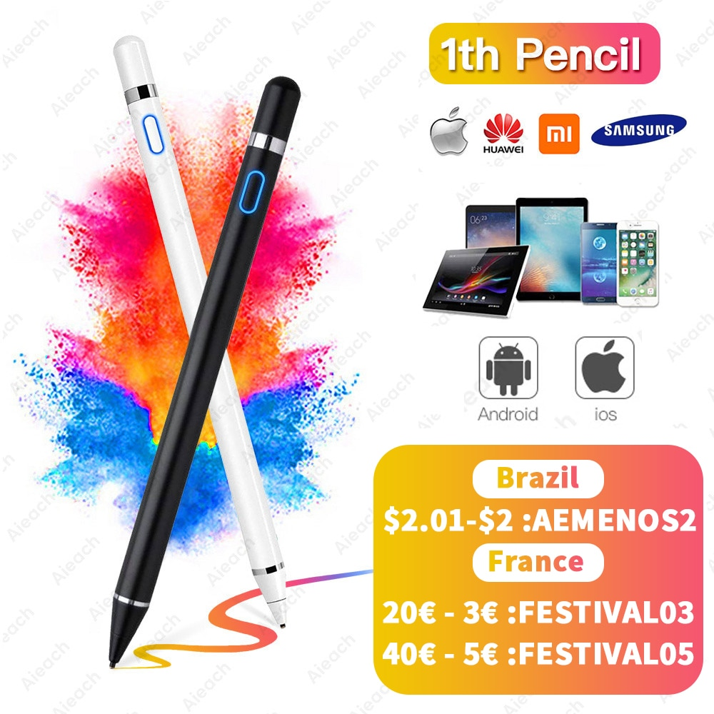 For Apple Pencil 1 2 iPad Pen Touch For Tablet Mobile IOS Android Stylus Pen For Phone iPad Pro Samsung Huawei Xiaomi Pencil