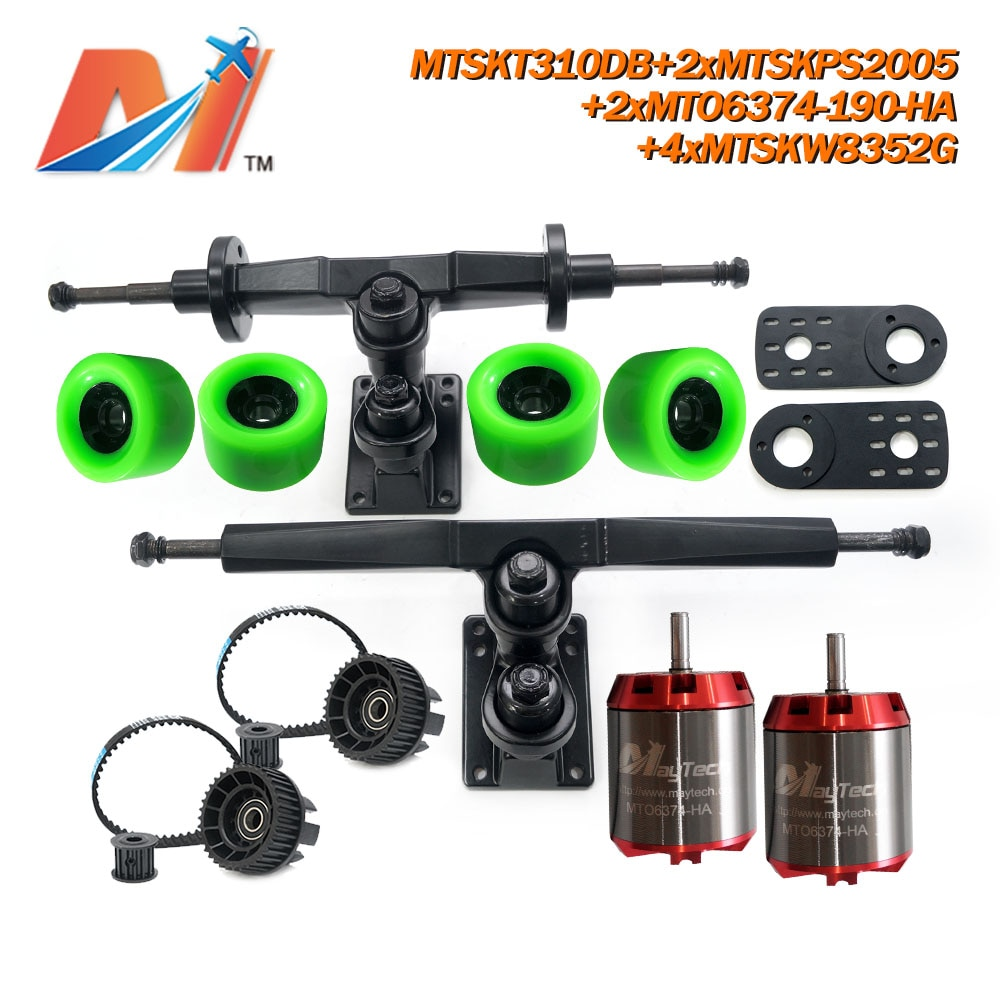 Maytech Unsealed 6355 6365 6374 Motor Wheels Truck Comb for DIY Electric Skateboard Elongboard Electronic Kits with Belt Pulley